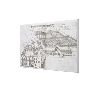 Plan de los jardines y del Chateau incluidos de Ga Impresion En Lona