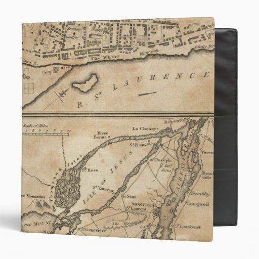 "Plan de Montreal, con un mapa de las islas Carpeta 1 1/2"""