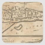 Plan de Montreal, con un mapa de las islas Pegatina Cuadrada