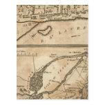 Plan de Montreal, con un mapa de las islas Postales