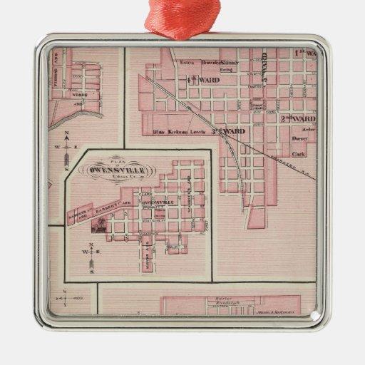 Plan de Mount Vernon, el condado de Posey con Pato Adorno