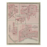 Plan de Mount Vernon, el condado de Posey con Pato Poster