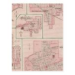 Plan de Mount Vernon, el condado de Posey con Pato Tarjeta Postal