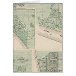 Plan de Newburgh, Warrick Co con Boonville Tarjeta De Felicitación