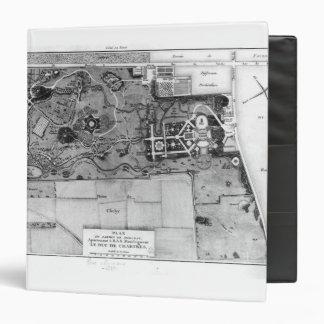 """Plan de Parc Monceau en París Carpeta 1 1/2"""""""