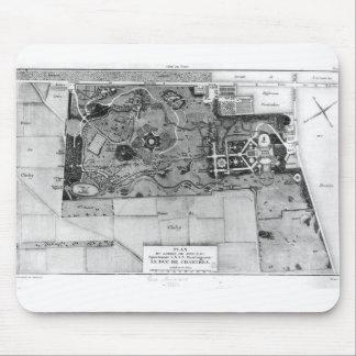 Plan de Parc Monceau en París Tapete De Ratones