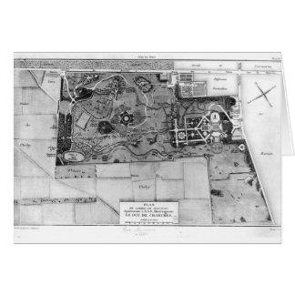 Plan de Parc Monceau en París Tarjeta De Felicitación