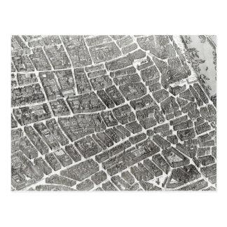 Plan de París, conocido como el 'Plan de Turgot' Tarjetas Postales