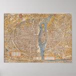 Plan de París por Truschet y Hoyau circa 1550 Poster