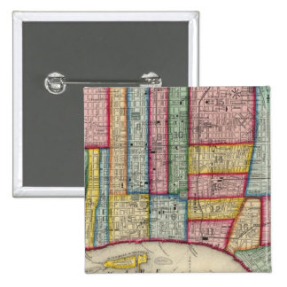 Plan de Philadelphia Pin Cuadrada 5 Cm