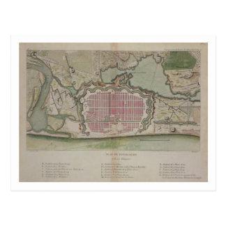Plan de Pondicherry, del 'viaje Indes aux. y del Postales