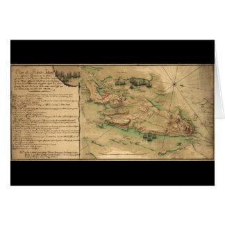 Plan de Rhode Island Map (1778) Card