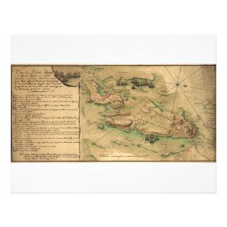Plan de Rhode Island Map (1778) Letterhead