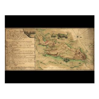 Plan de Rhode Island Map (1778) Postcard