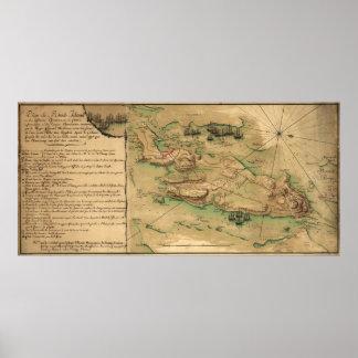 Plan de Rhode Island Map (1778) Poster