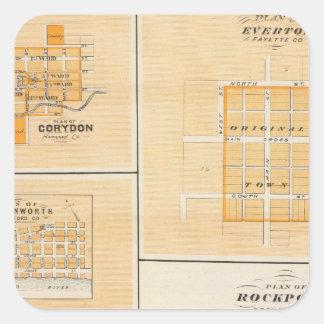 Plan de Rockport, chaqueta de punto Co con Everton Pegatina Cuadrada