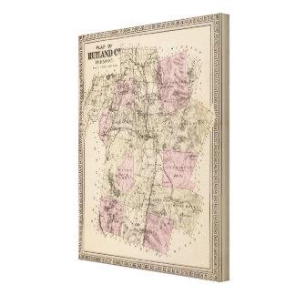 Plan de Rutland Vermont Impresiones De Lienzo