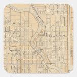 Plan de South Bend con Mishawaka Pegatina Cuadrada