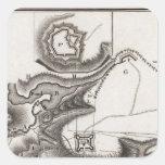 Plan de St Lewis Pegatina Cuadrada