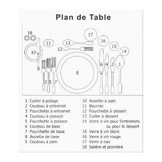Plan De Table French Canvas Prints