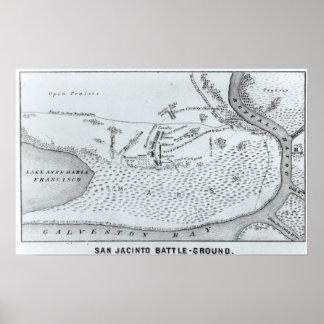 Plan de tierra de la batalla de San Jacinto Poster
