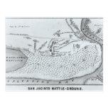 Plan de tierra de la batalla de San Jacinto Postales