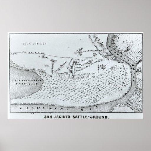 Plan de tierra de la batalla de San Jacinto Póster