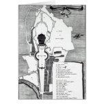 Plan de tierra del Vatican, Roma Tarjeta De Felicitación