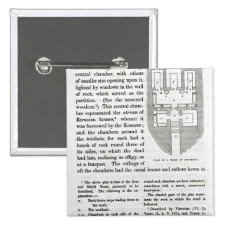 Plan de una tumba en Cervetri Pin Cuadrado