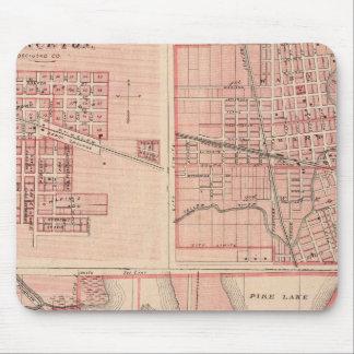 Plan de Varsovia con Pierceton, Plymouth Tapetes De Ratón