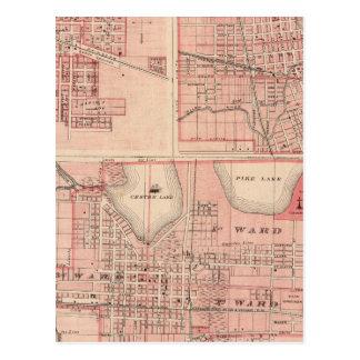 Plan de Varsovia con Pierceton, Plymouth Tarjeta Postal