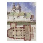 Plan de Vasily Polenov-Sketch&floor de la iglesia  Postal