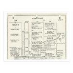 Plan de vuelo de Apolo 11 del vintage Postales