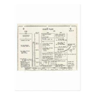 Plan de vuelo de Apolo 11 del vintage Tarjeta Postal