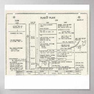 Plan de vuelo de Apolo 11 Póster