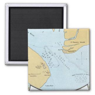 Plan del ataque y de la captura navales del puerto imán para frigorífico