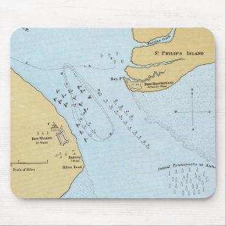 Plan del ataque y de la captura navales del puerto tapetes de ratón