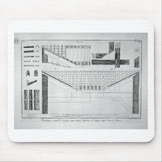 Plan del atrio toscano de la casa de Cavedio Alfombrillas De Ratones