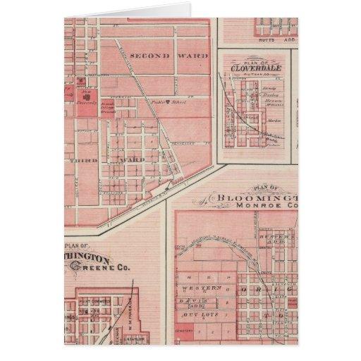 Plan del castillo verde, Putnam Co con Bloomington Tarjeta De Felicitación