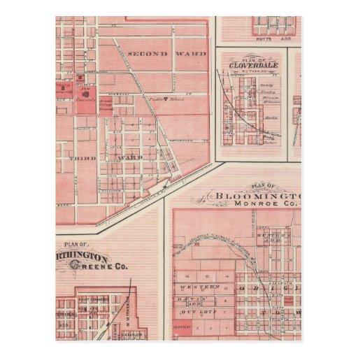 Plan del castillo verde, Putnam Co con Bloomington Postales