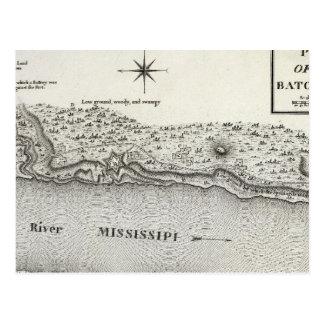 Plan del fuerte Baton Rouge Tarjeta Postal