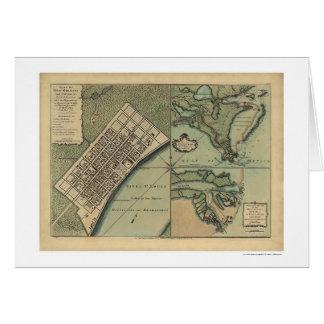 Plan del mapa 1759 de New Orleans Tarjeta De Felicitación