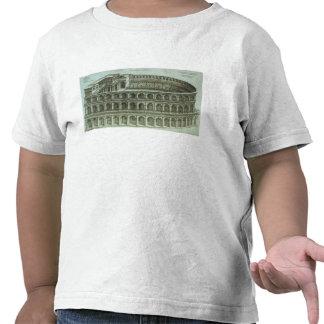 Plan del teatro de Marcelo, Roma, 1558 (engr Camiseta