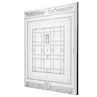 Plan del templo de Solomon, Jerusalén, del 'En Lienzo Envuelto Para Galerias