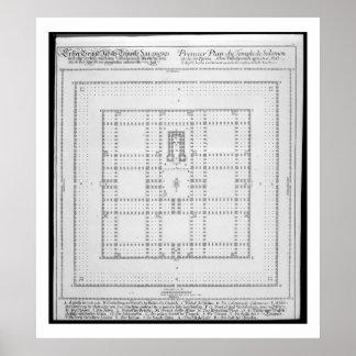Plan del templo de Solomon, Jerusalén, del 'En Póster