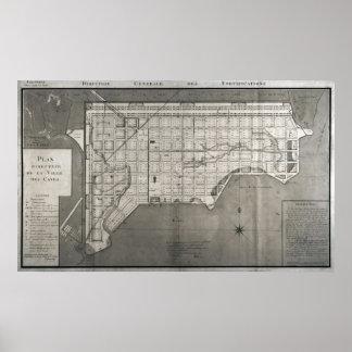 Plan Directeur de la Ville des Cayes, 1789 Poster