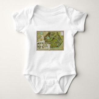 Plan du jardin et chateau de la Reine Baby Bodysuit