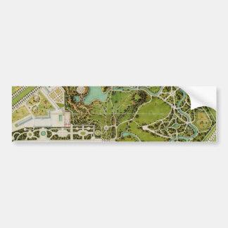 Plan du jardin et chateau de la Reine Bumper Sticker