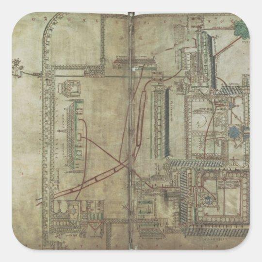 Plan f.285 de ms R 171 de la catedral y del th de Pegatina Cuadrada