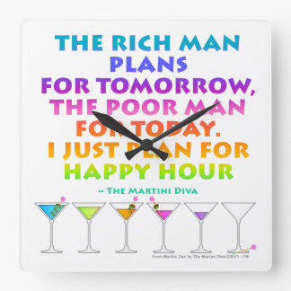 PLAN FOR HAPPY HOUR WALL CLOCK